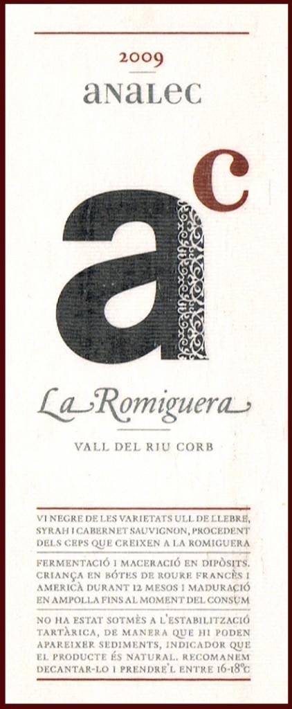 Analec_La-Romiguera-2009