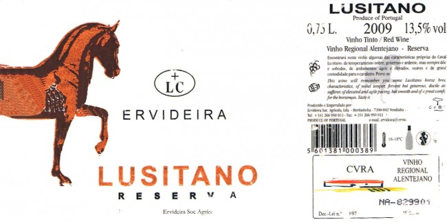 Ervideira_Lusitano-Reserva-2009