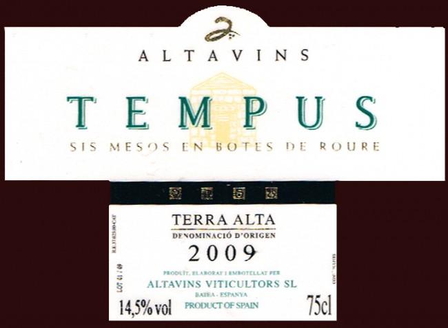 Altavins Viticultors SL_Tempus 2009