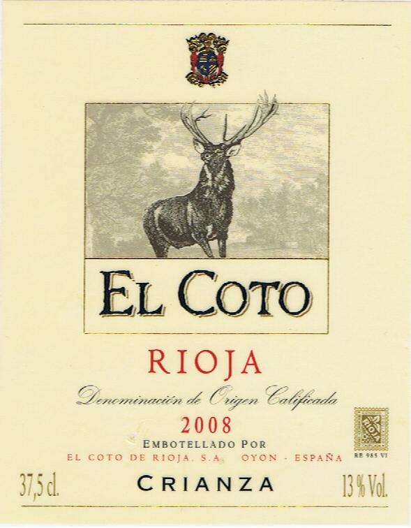 El Coto de Rioja_El Coto Crianza 2008