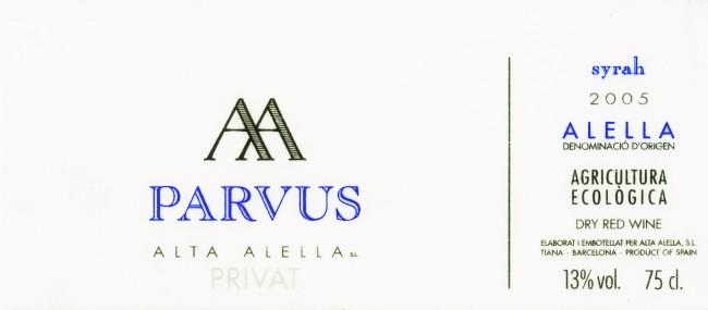Alta-Alella_Parvus-Syrah-2005