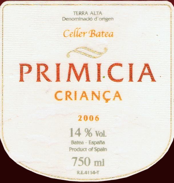 Celler-Batea_Primicia-Crianca-2006