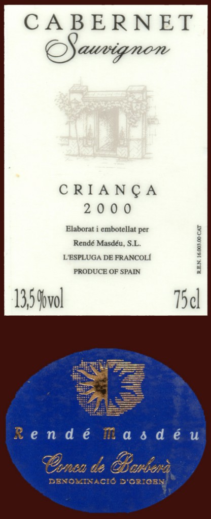 Rende-Masdeu_Cabernet-Sauvignon-Crianca-2000