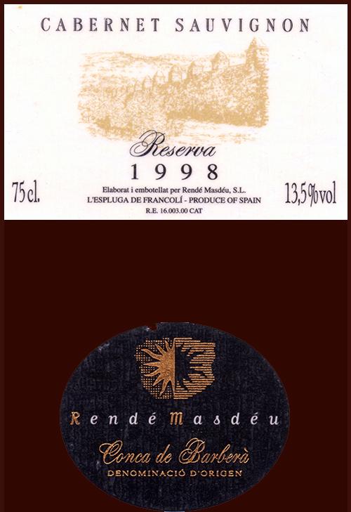 Rende-Masdeu_Cabernet-Sauvignon-Reserva-1998