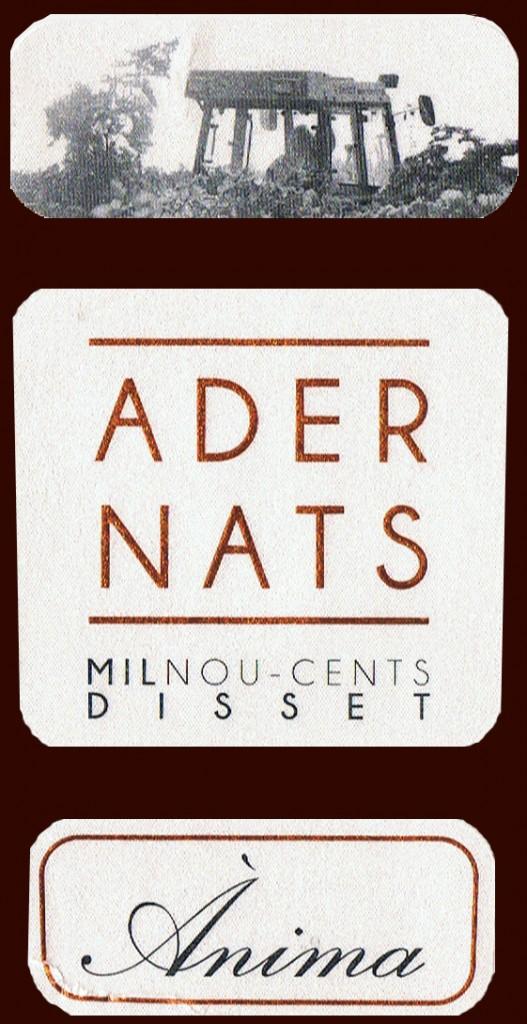 Vinicola de Nulles COOP_Adernats Milnoucents Disset_Ànima 2010