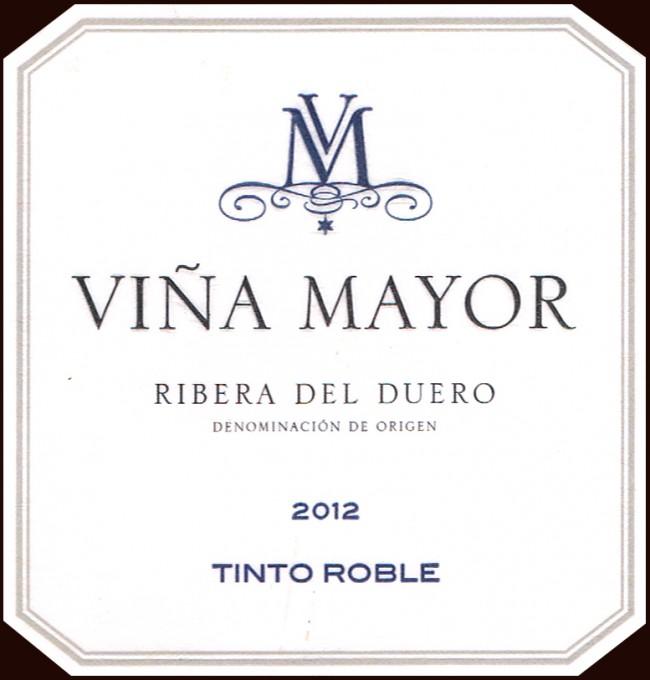 Bodegas y Viñedos Viña Mayor_Tinto Roble 2012