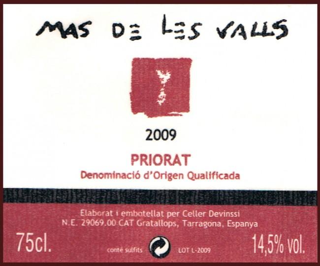 Celler Devinssi_Mas de les Valls 2009
