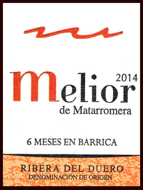 Bodega Matarromera SL_Melior 2014