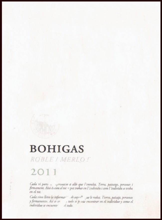 Fermí Bohigas SA_Bohigas Roble Merlotr 2011