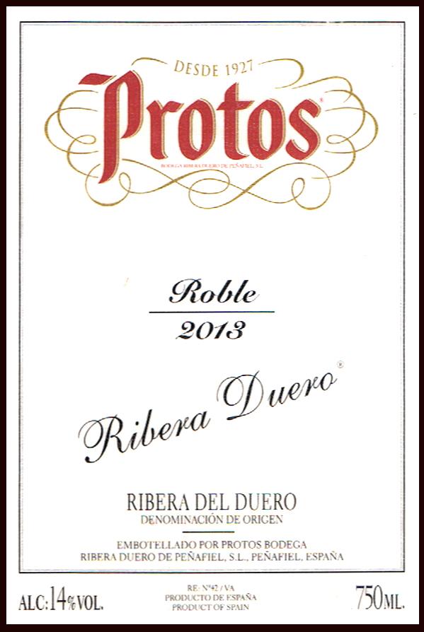 Protos Bodega Ribera Duero de Peñafiel SL_Protos Roble 2013