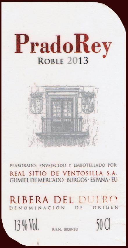 Real Sitio de Ventosilla SA_Prado Rey Roble 2013