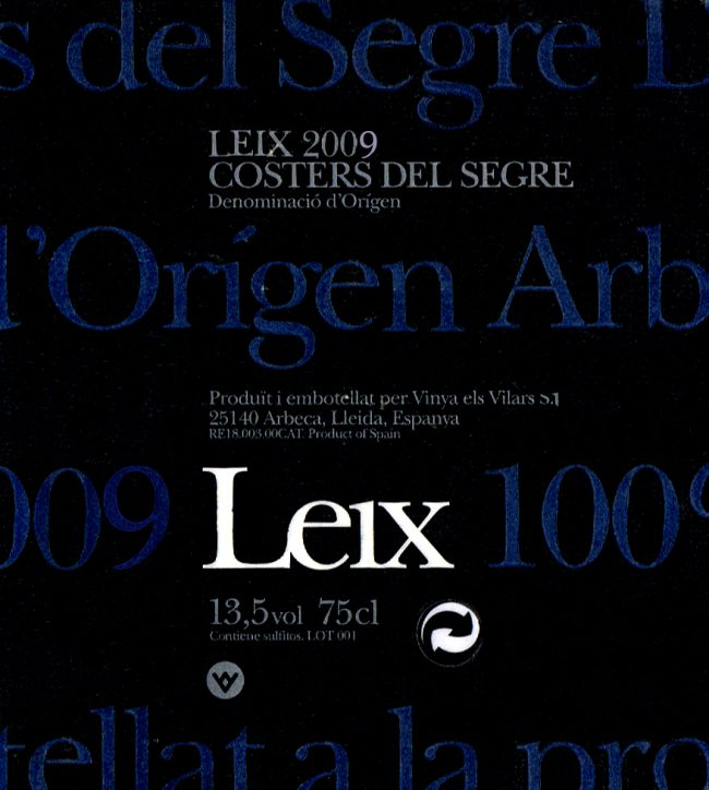 Vinya els Vilars SL_Leix 2009