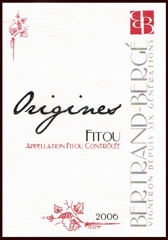 Domaine Bdertrand Bergé_Origines 2006